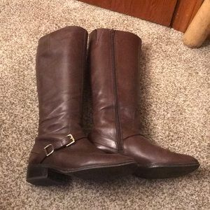 Ralph Lauren Brown Leather Riding Boots size 8